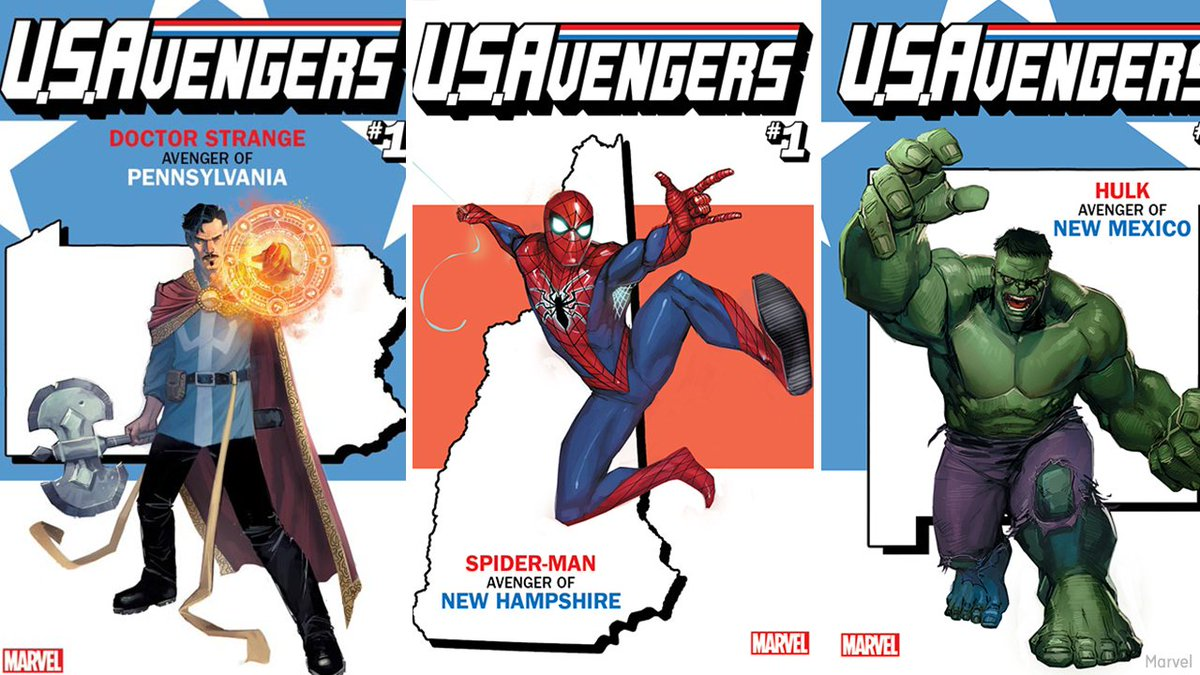 New Marvel comic series to match each U.S. State with its own Avenger hero