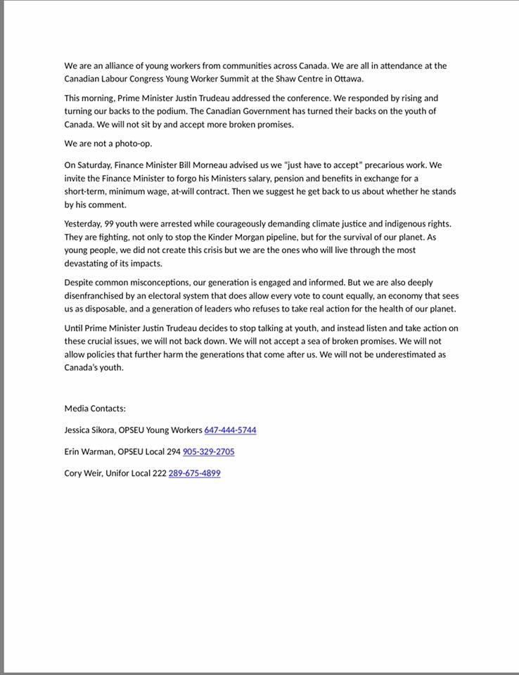 Rankandfile On Twitter Statement By Young Workers Who Protested