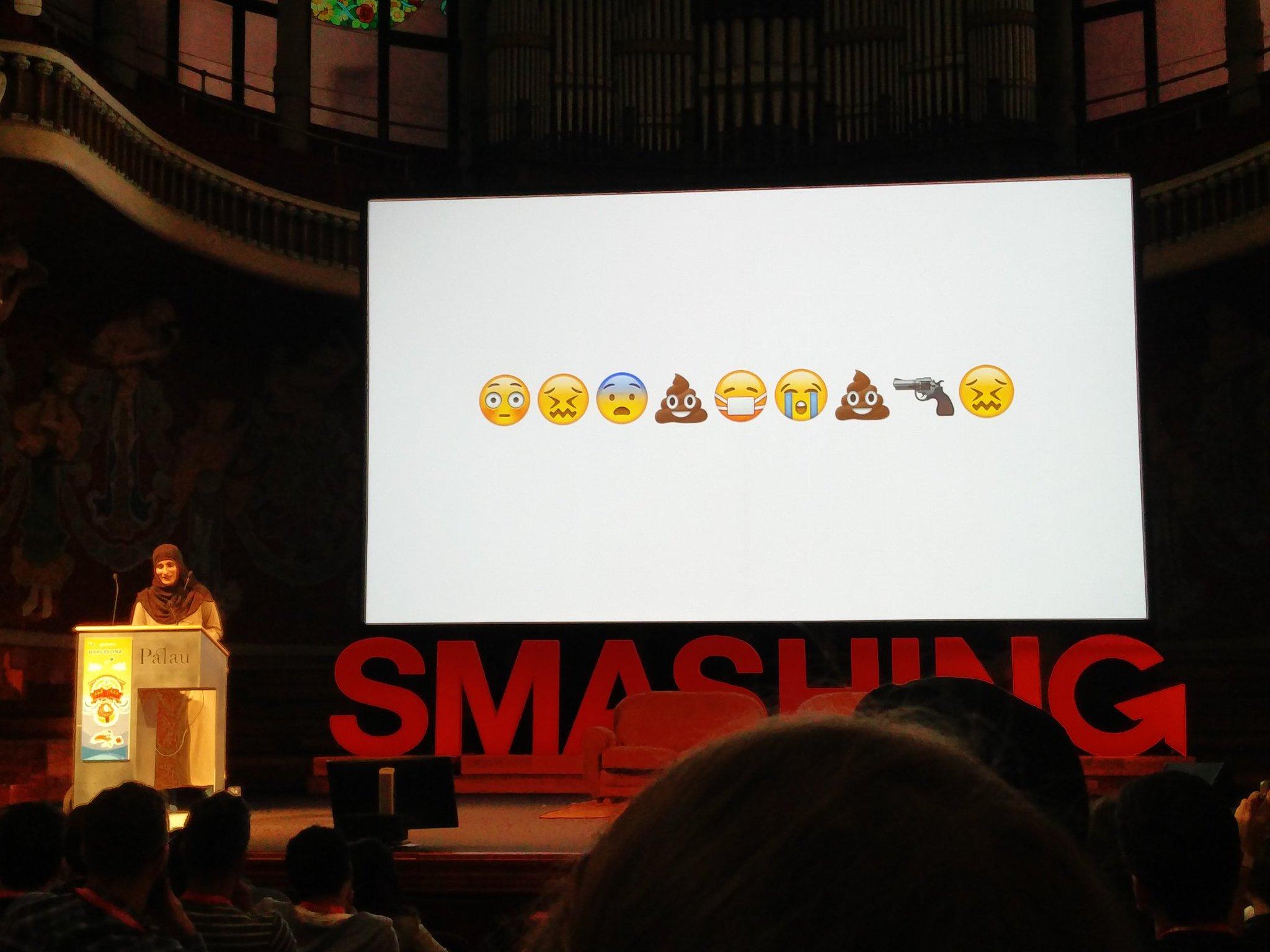 Very inspirational @SaraSoueidan in #smashingconf ! Love it! Love my job! https://t.co/VOfjIJM5JR