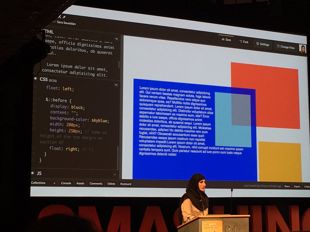 Very cool talk by @SaraSoueidan  about web performance, accessibility, Css tricks and good practices.😄 #smashingconf  #Scotia_df https://t.co/Gi1fOnNx51