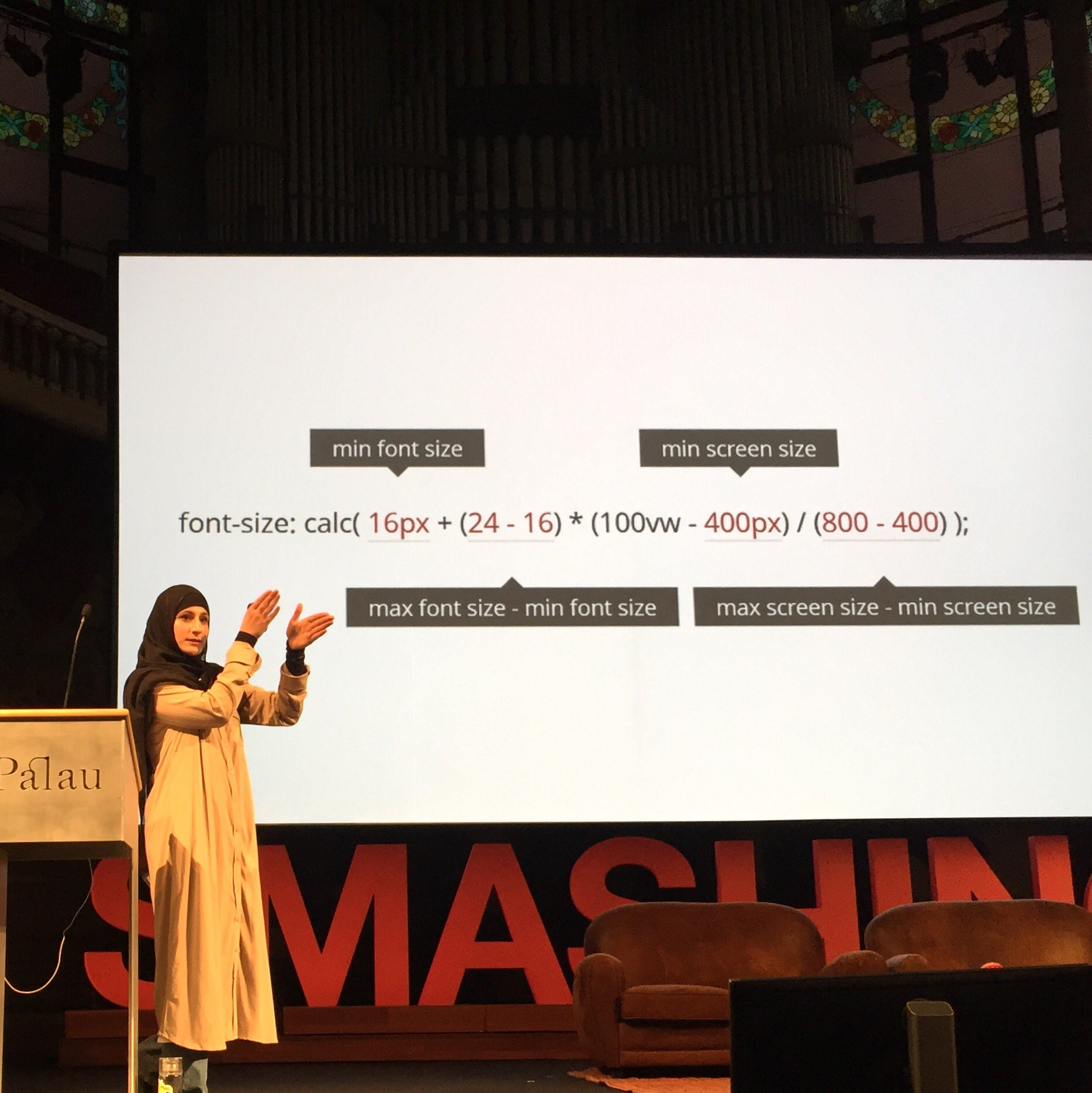 RT @nucliweb: Awesome talk by @SaraSoueidan at #smashingconf #LotOfTips #css #svg #a11y https://t.co/0ZrPDQ5i48