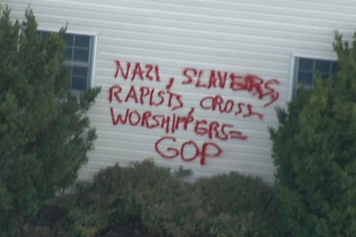 Pat Toomey's neighbors' homes were hit with anti-GOP graffiti