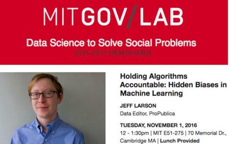 MIT Data Science for Solving Social Problems - speaker series - Code