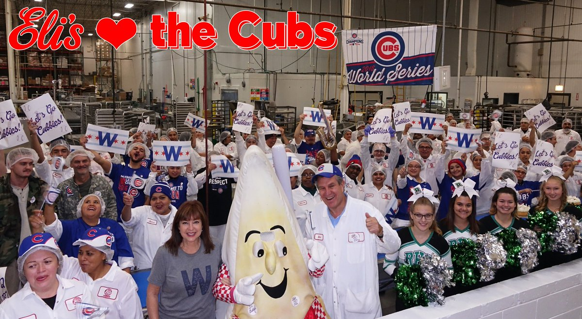 Eli's <3 the ! R#CubsT if you do too and you'll be entered to WIN an Eli's Red, White and Blue Cheesecake Tower! #GoCubsGo
