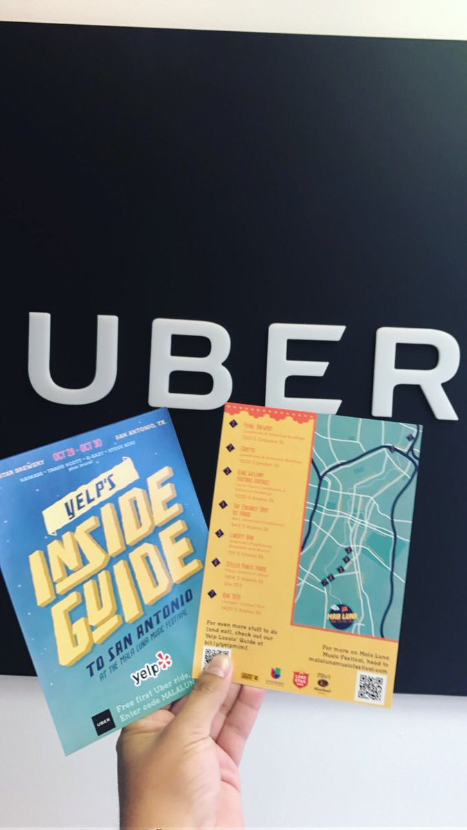 .@Uber_SanAntonio/@Uber is offering 1st time riders a free ride, up to $20, with code MALALUNA16