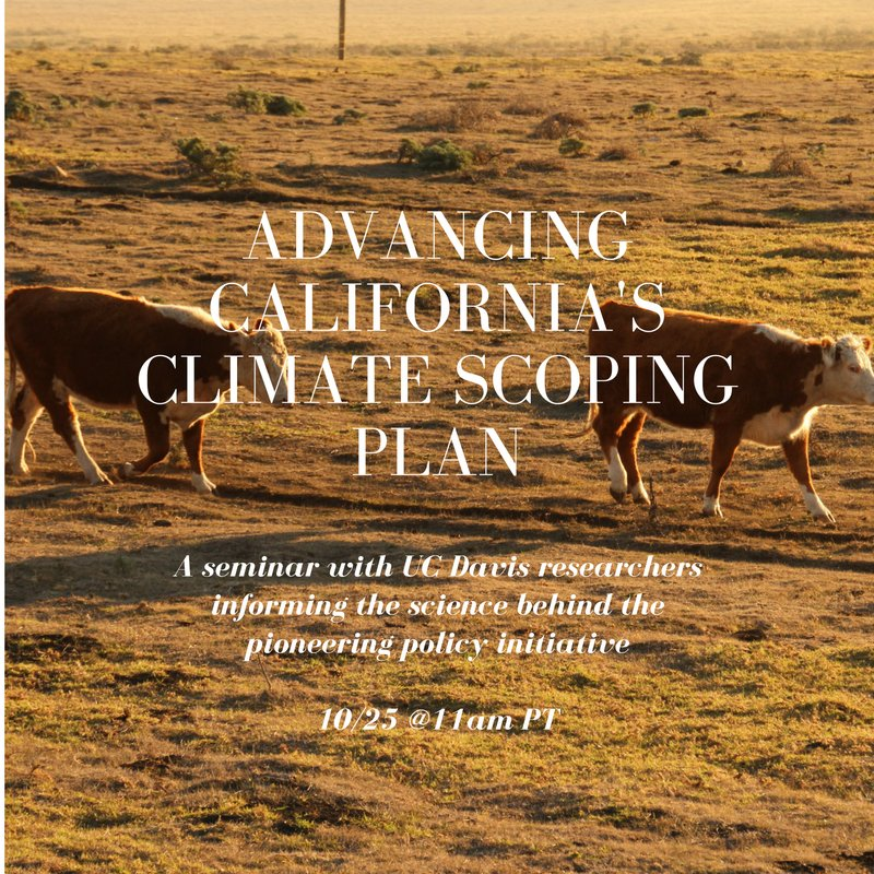 How will ag & science contribute to CA's new AB32 climate policy? Learn how in our seminar, streaming in 15 minutes https://t.co/V8FUkCpIl6 https://t.co/MavuAm7Kn8