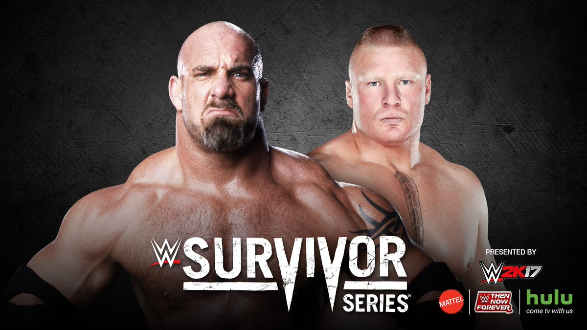BREAKING NEWS: @Goldberg will face @BrockLesnar at @WWE #SurvivorSeries Sunday, Nov. 20 on @WWENetwork!
