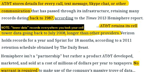 New report: If you use @ATT, they've been tracking you since 1987 and secretly selling it to cops without a warrant. http://www.thedailybeast.com/articles/2016/10/25/at-t-is-spying-on-americans-for-profit.html