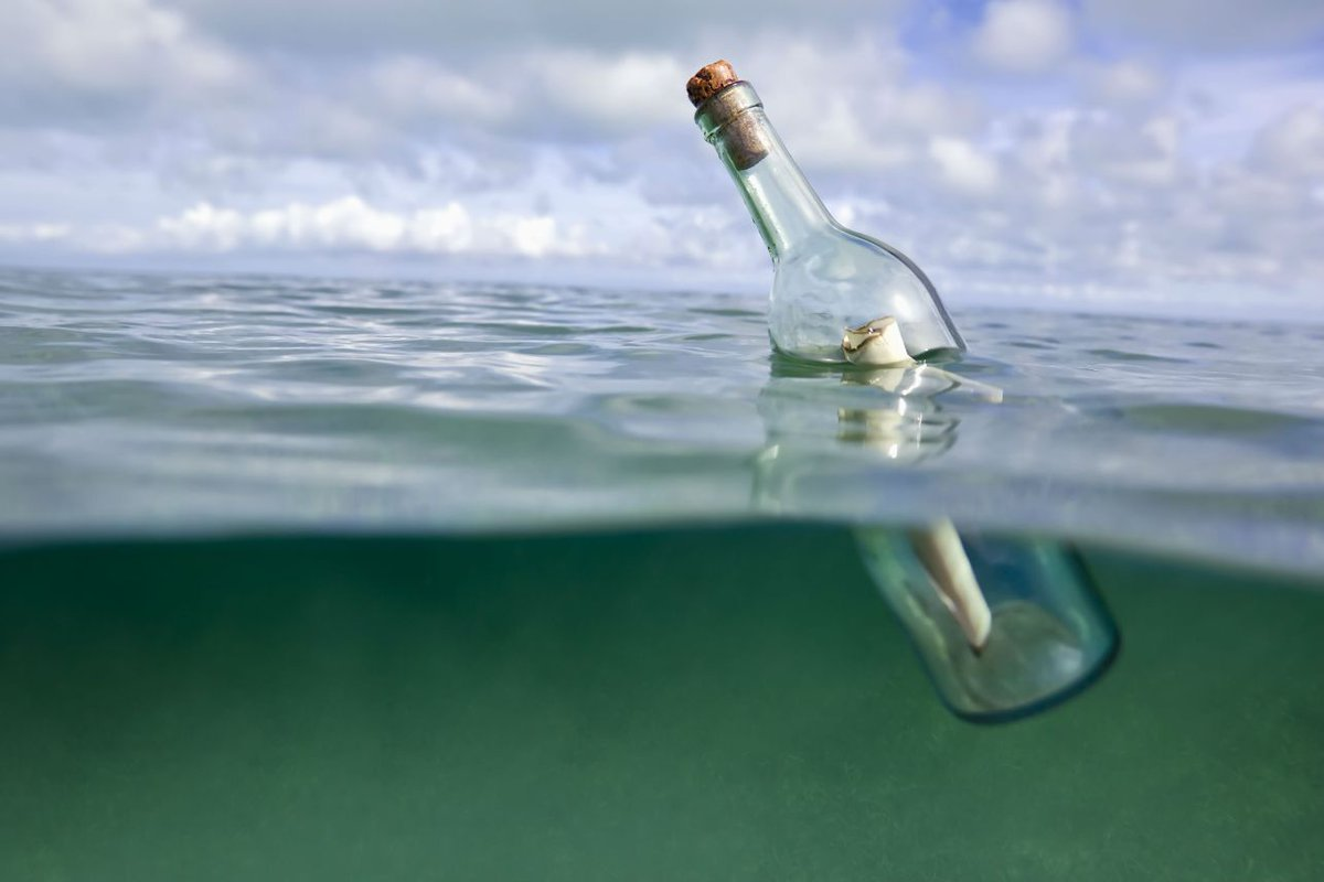 A message in a bottle sent out to sea more than 50 years ago has been found and returned