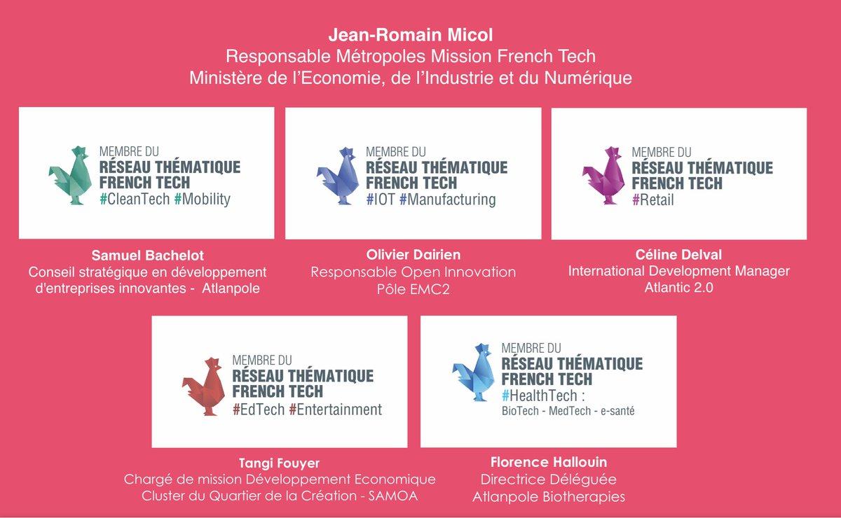 Les cinq labels NantesTech