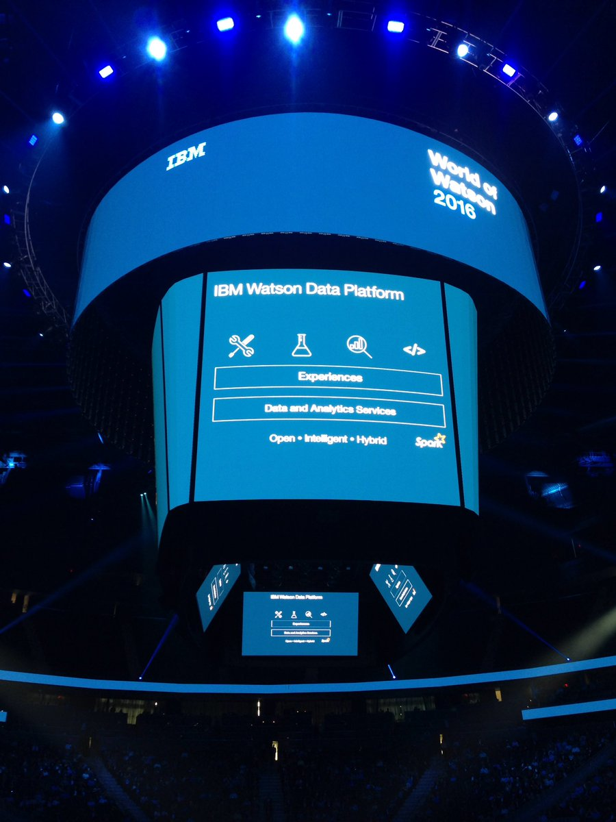 Watson Data Platform available on an open source foundation built on Spark. #ibmwow https://t.co/UiycgMa6eT