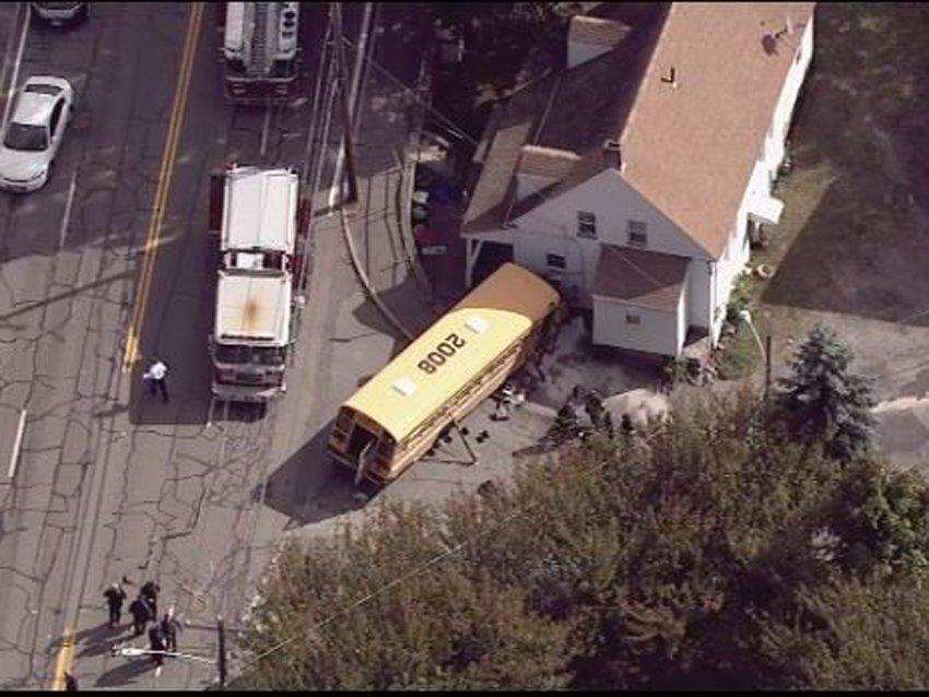 4 children, driver hurt in Massachusetts school bus crash