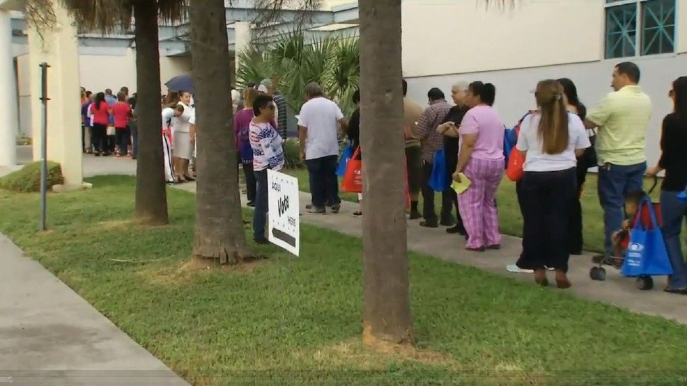 Record-setting turnout on first day of early voting in Bexar County