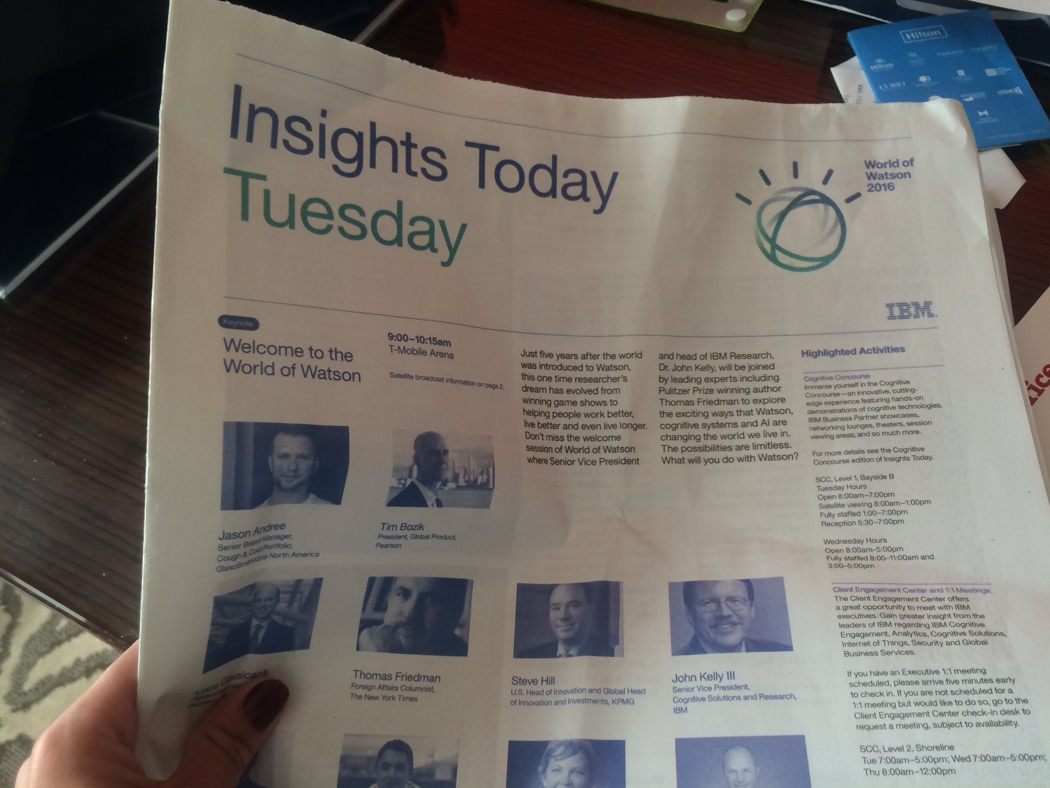 Oh, ya know, just reading the morning paper... #ibmwow @ibmwow #WatsonIoT https://t.co/nly10yBWRQ