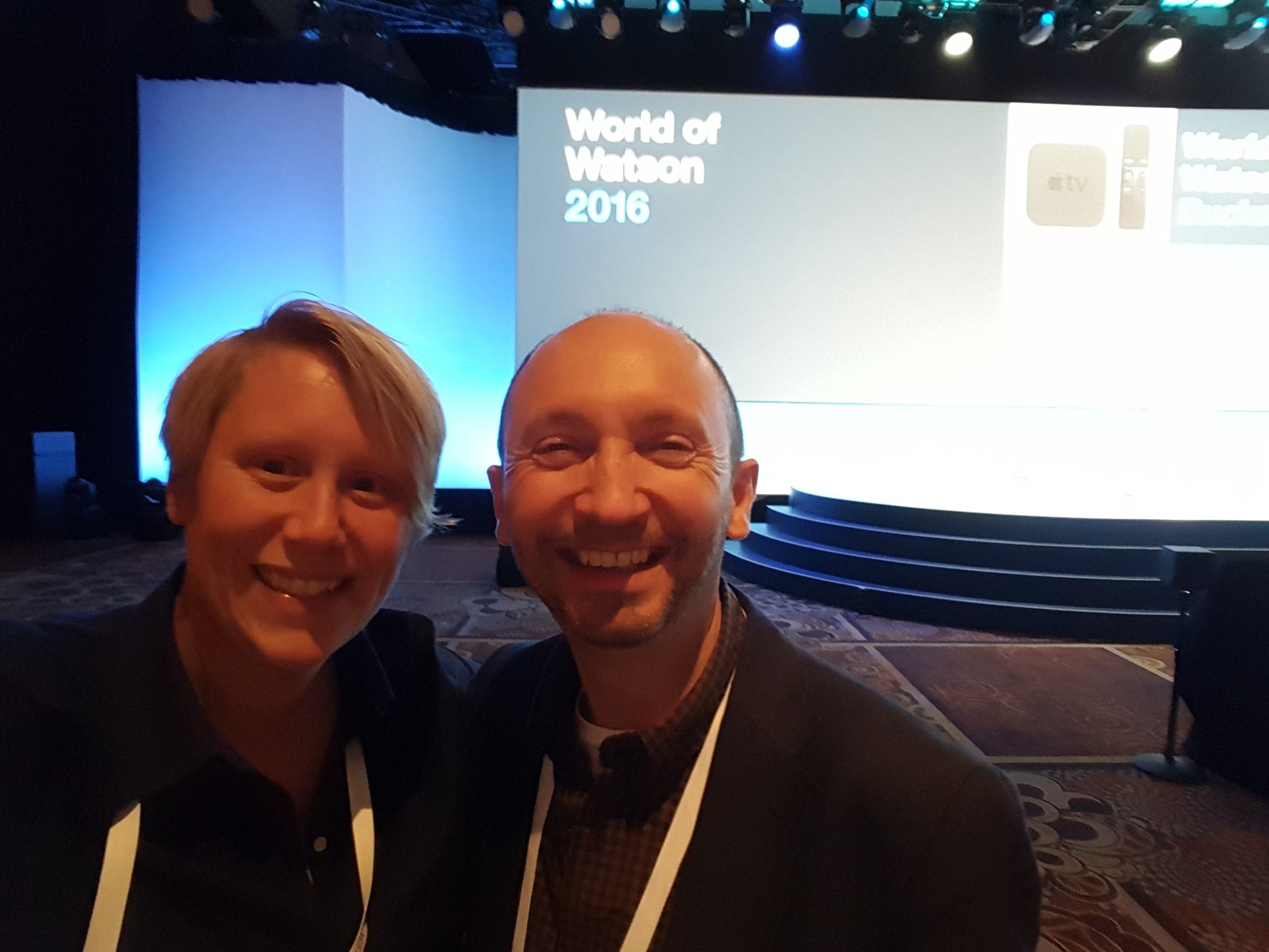 .@pragmatik and I getting our seats early for the first of a @harrietgreen1 double bill at #ibmwow #IoT #education https://t.co/4sJ865Ioru