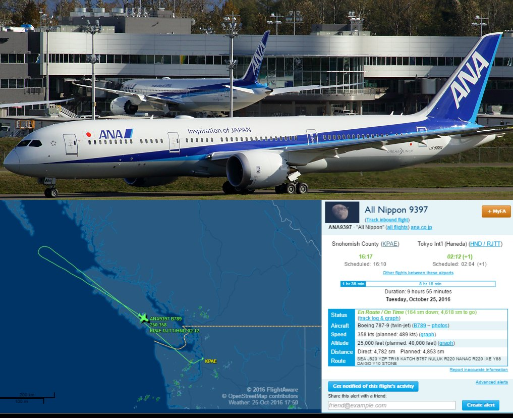 ANA 787-9 delivery flight detour - Real World Aviation - Infinite ...