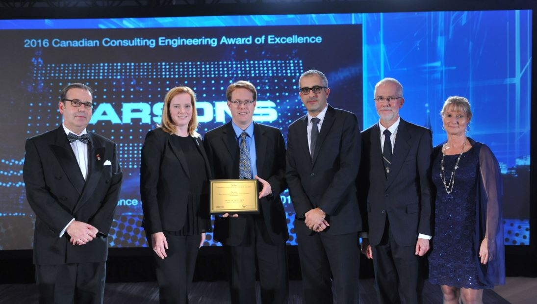 Congrats @ParsonsCorp on winning Award of Excellence for West #Toronto Diamond Rail-Rail Grade Separation! #CCEawards https://t.co/tAcQ40Ope4