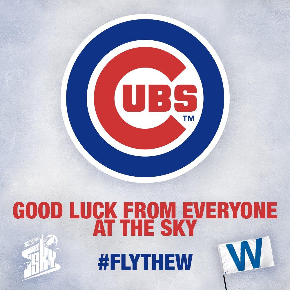 Sending some Chi-Town love to Cleveland. Go get 'em @Cubs! #FlyTheW #Cubs https://t.co/Ks5CqqtOcg