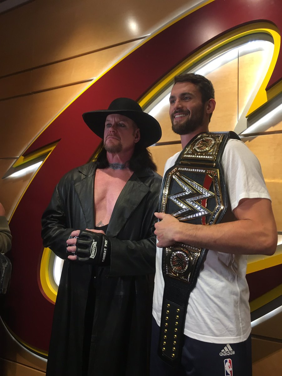 8d92d0e2a155 The Undertaker joins the Cavs for opening night