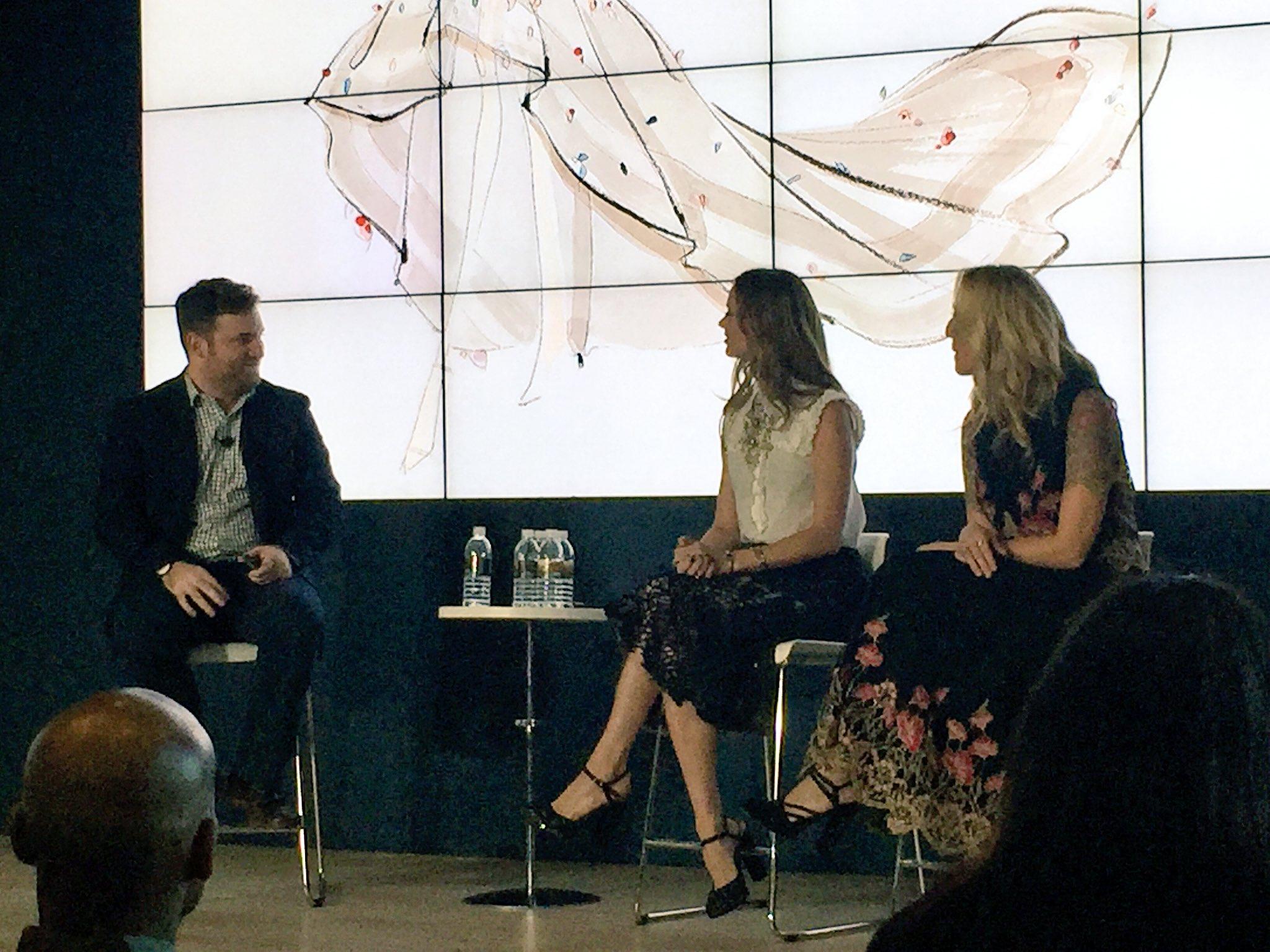"Georgina Chapman describes #Marchesa as a very ""feminine brand""  an ""artisan "" brand but the idea of working w technology appealed #ibmwow https://t.co/JhKLkd3ivX"