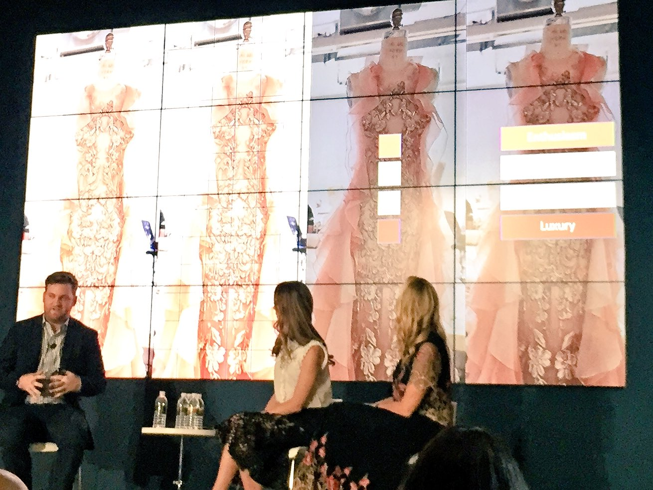 Watson ranked the prevalence of colors within #Marchesa 's red carpet gowns & researched the emotions that were related to colors #ibmwow https://t.co/Lp76XUkvnI