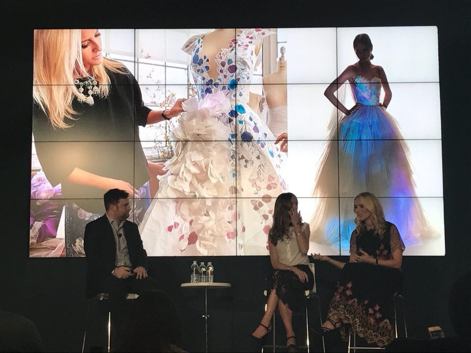 """""""We see our dresses as a transformative process. We want our dresses to be emotional."""" - @MarchesaFashion designers on the #CognitiveDress https://t.co/367d46ZJx4"""