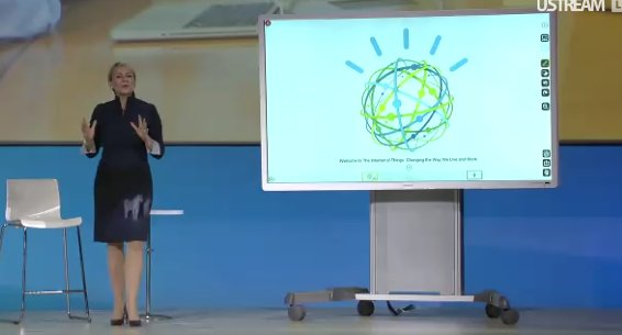 @harrietgreen1 shows cognitive whiteboard, the @RicohTweets Intelligent Workplace with Watson https://t.co/L5MyFk4mCh @ibmwow #WatsonIoT https://t.co/QBwZdYNexY