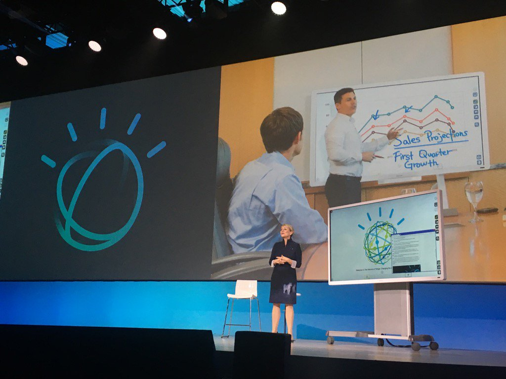 IBM #WatsonIoT GM reveals #cognitive whiteboard from Ricoh - captures audio, transcribes translates & more #iot https://t.co/WkSPWfTTcs