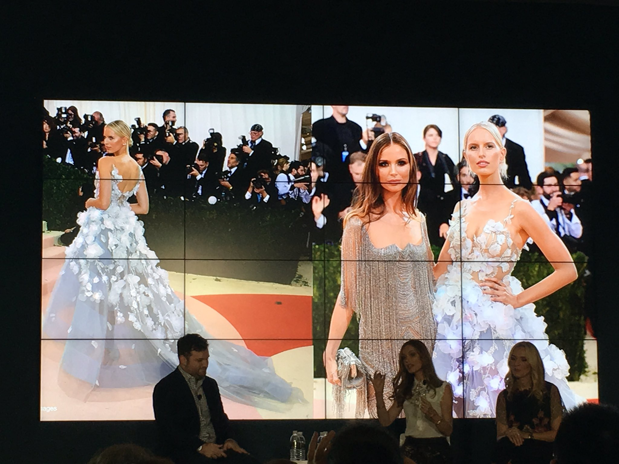 Listening to Marchesa designers talk about the famous #cognitive dress unveiled at the last #MetGala - stunning dress & #tech! #ibmwow https://t.co/nKUTNKj3B6