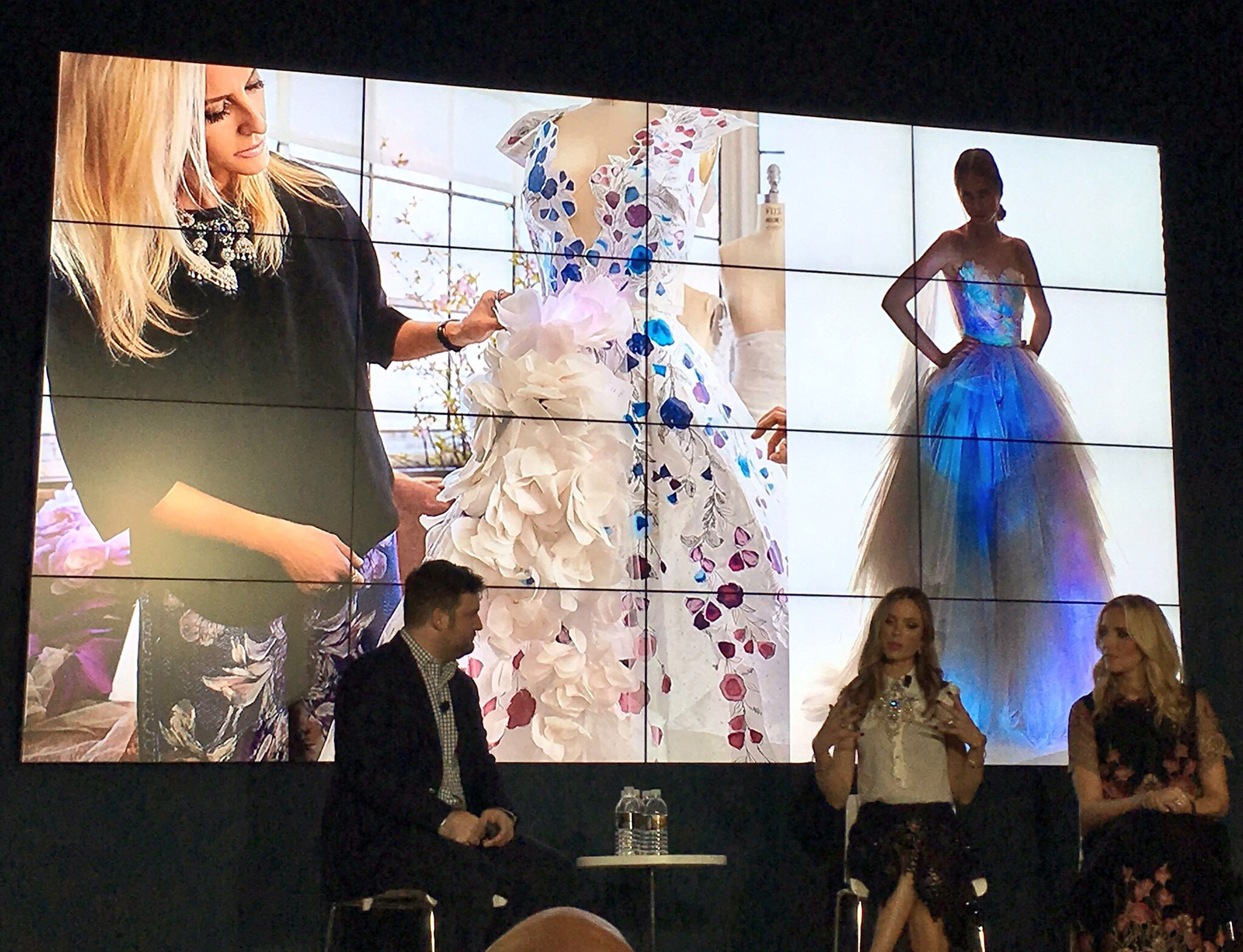 Totally fangirl'd seeing the designers of @marchesa and hearing how the #Cognitive dress came to life!! #ibmwow https://t.co/uiXbMAjOPO