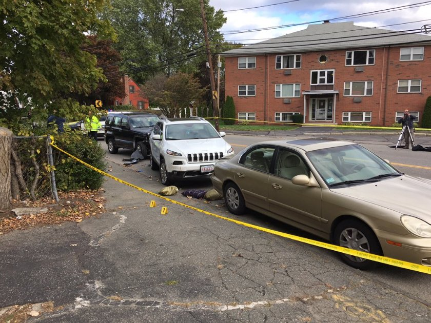 Woman pinned between vehicles in Waltham chain-reaction crash