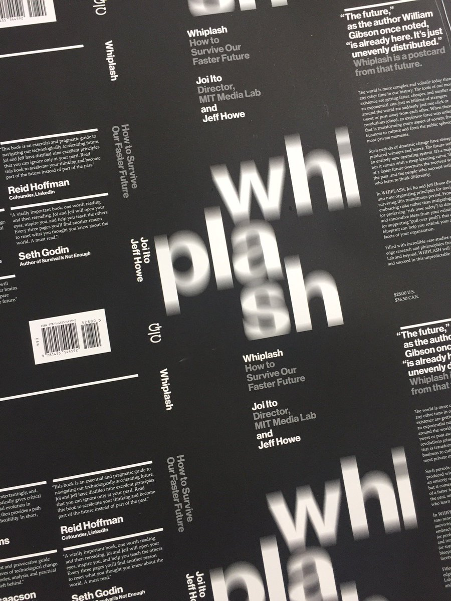 Michael bierut on twitter sneak preview cover proofs for whiplash michael bierut on twitter sneak preview cover proofs for whiplash how to survive our faster future by medialabs joi ito jeff howe malvernweather Gallery