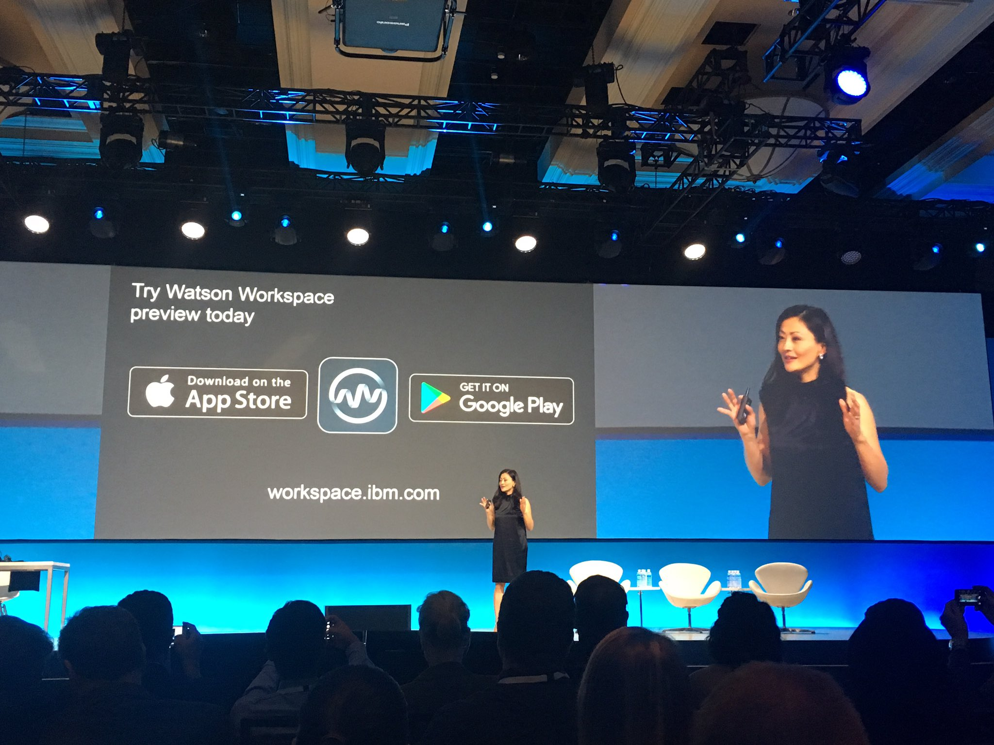 Great news! Everyone at the conference can download the Watson Workspace preview today! #ibmwow #watsonworkspace https://t.co/oBRY3TlM4b