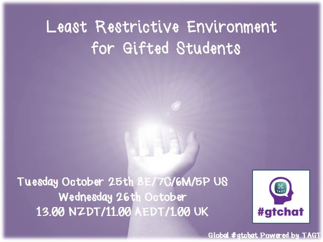 Thumbnail for #gtchat: Least Restrictive Environment for Gifted Students