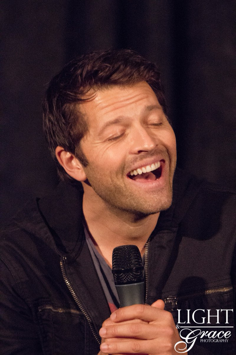 Misha Collins Laughing Topsimages