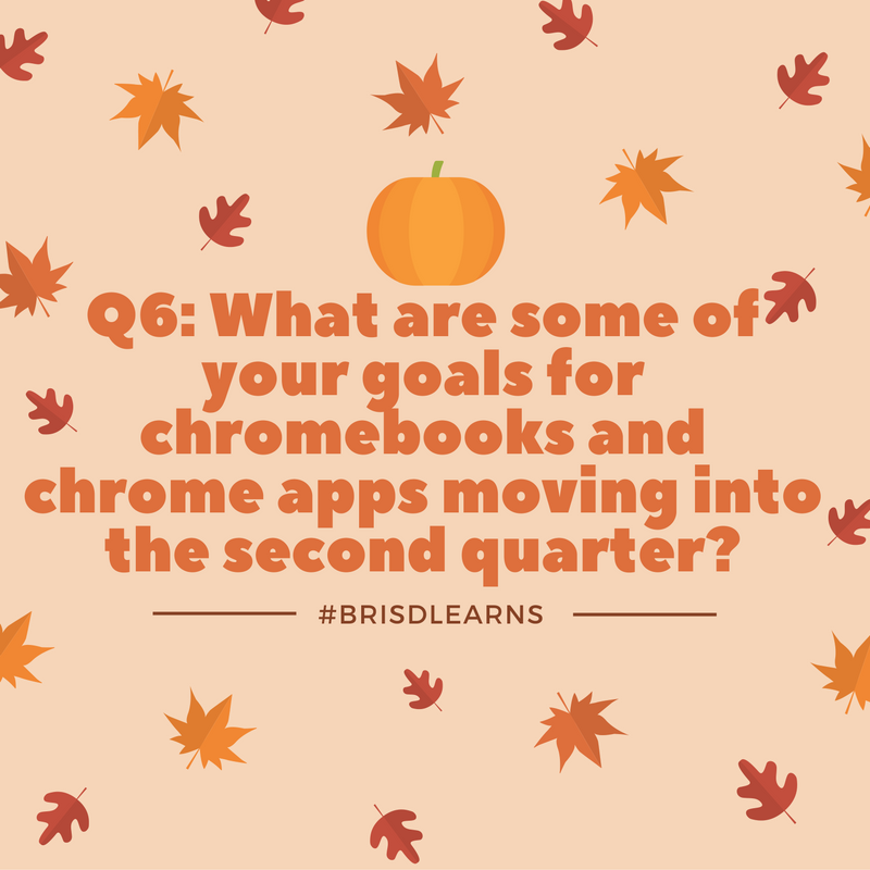 Here is our last question to wrap up Q6: What are some of your goals moving into the second quarter? #BRISDlearns https://t.co/QcuTsBdbWR