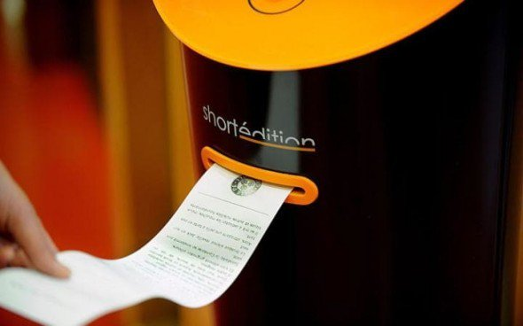 Instalan máquina expendedora de cuentos en las estaciones francesas https://t.co/6Ag7MA0WvN https://t.co/RD3bqNB2QW