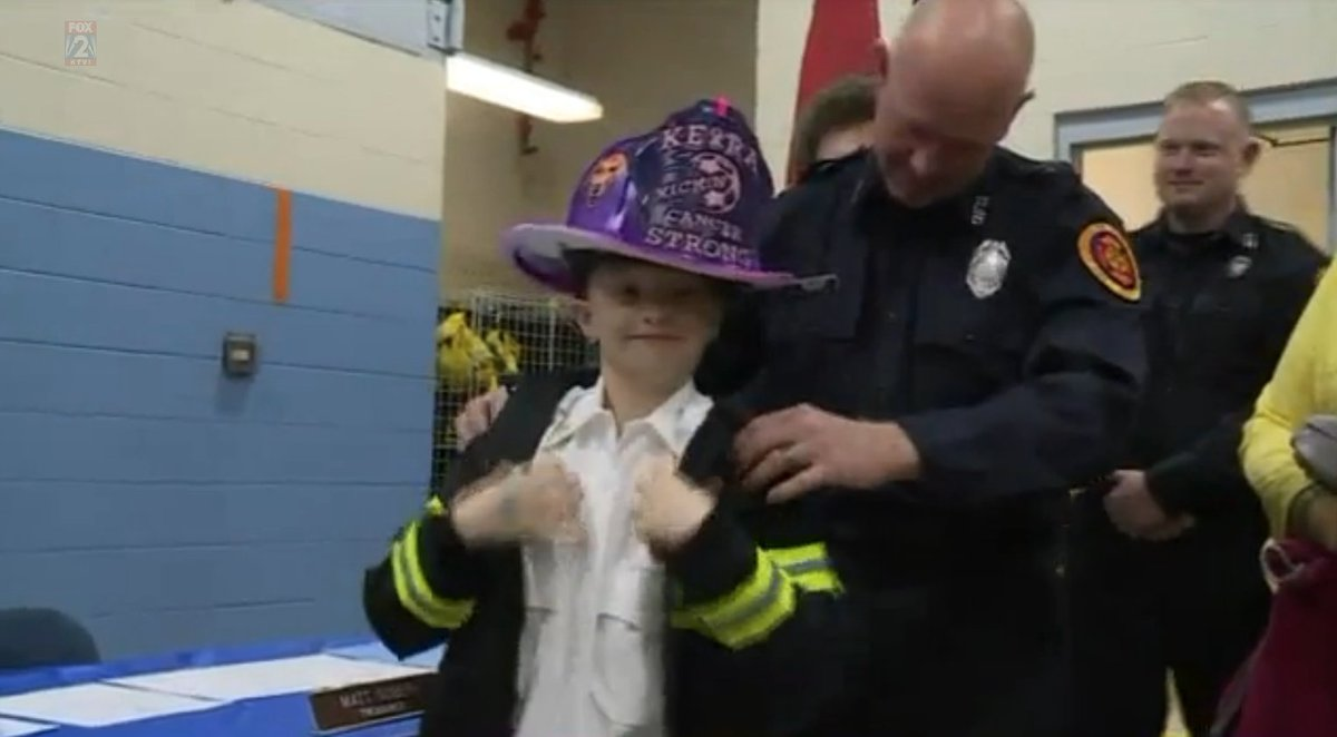9-year-old battling rare cancer made honorary firefighter