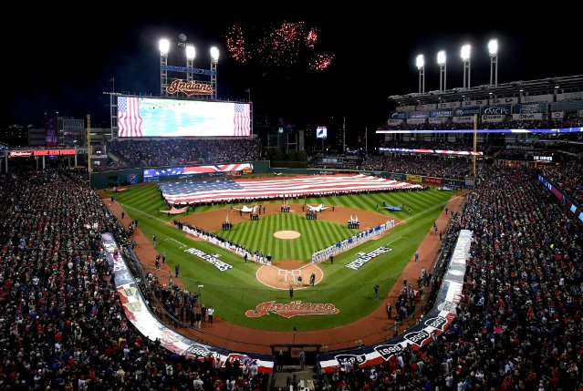 Start time for WorldSeries Game 2 moved up to 6:08 p.m. because of potential rain.