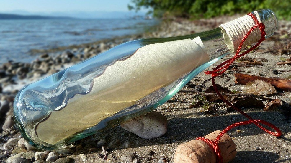 Bottled message sent out to sea is found 5 decades later