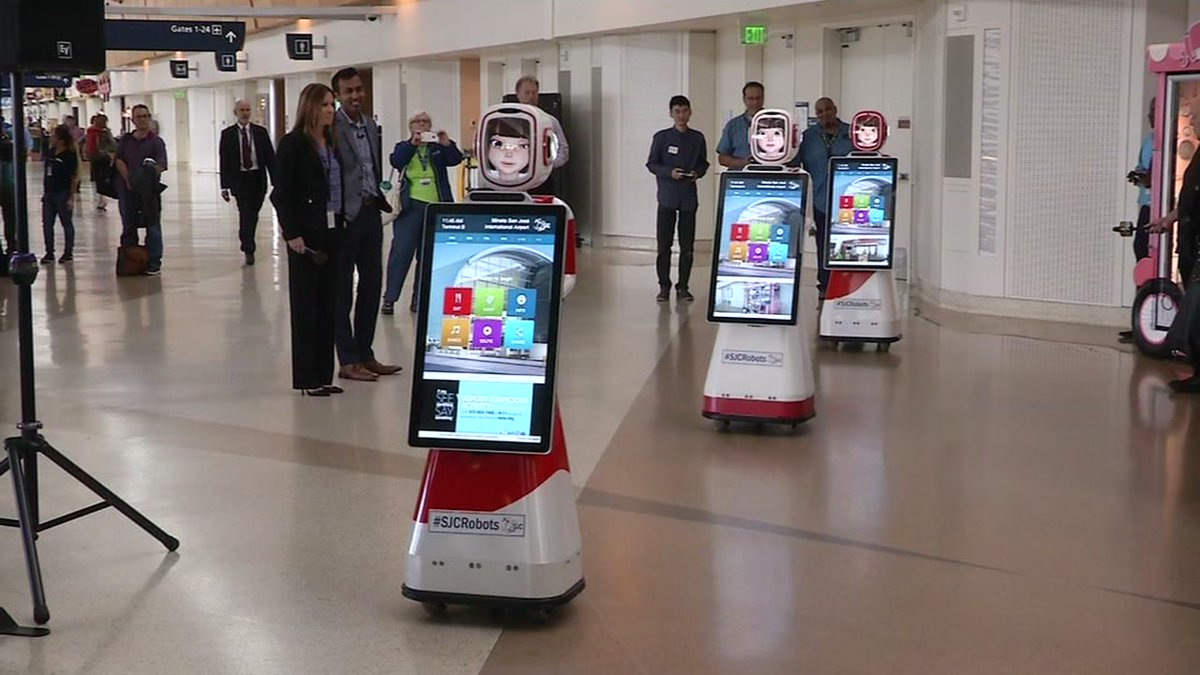 Meet SanJose International Airport's latest hires, 3 robots brimming with personality.
