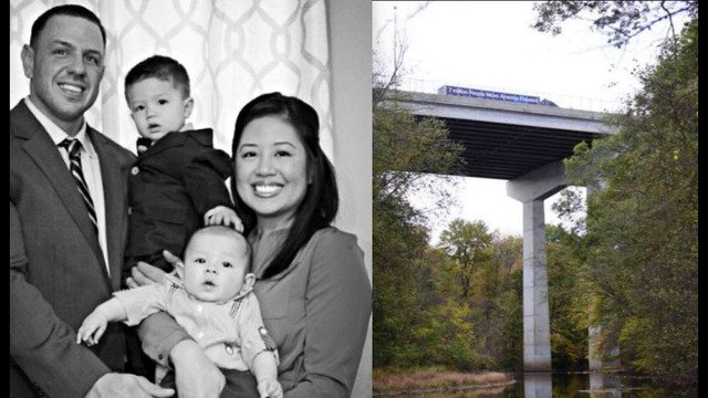 Father dies after leaping from bridge with sons in his arms; boys survive