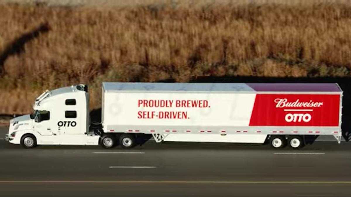 Self-driving truck chugs more than 110 miles with one goal: Deliver 2,000 cases of beer