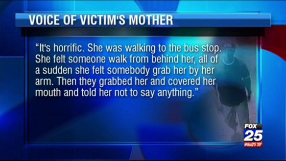 Next at 6:30 - we're hearing from the mother of a 13 y/o girl who was nearly abducted near her Roxbury bus stop