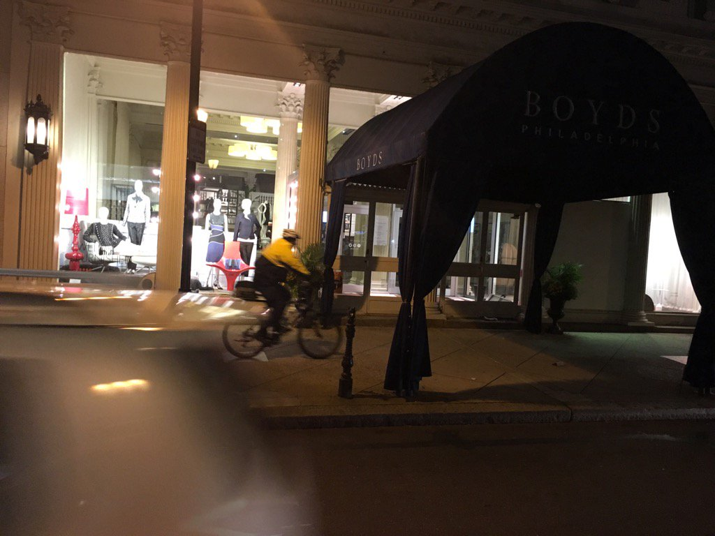Police bike patrols on Center City sidewalks overnight. This one past scene of latest Center City crime @FOX29philly