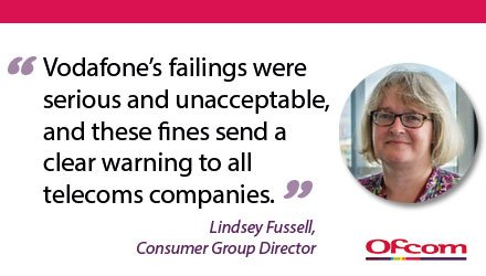 Ofcom has issued Vodafone with a record £4.6 million fine for failing its customers: https://t.co/pGHxzFXHeY https://t.co/6n02sp61cu
