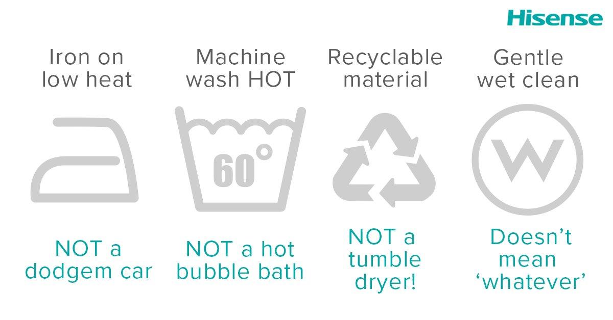 Hisenseuk On Twitter A Beginners Guide To Washing Machine Symbols