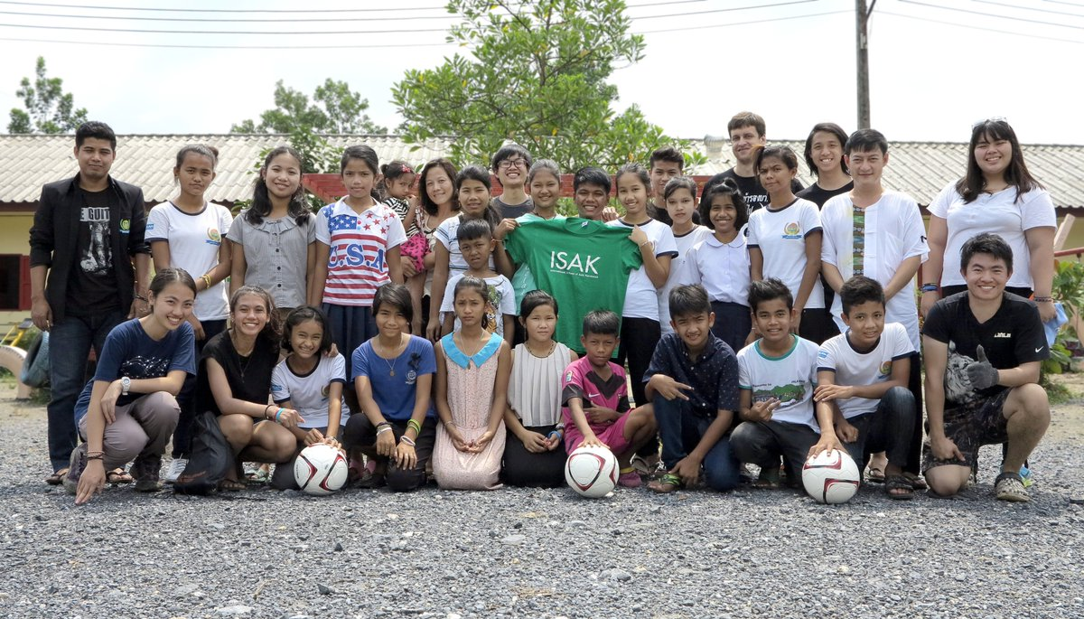 The amazing students from @isakenglish are here again for English Camp and Outdoor Activities! <3 #empowerchildren #studentexchange