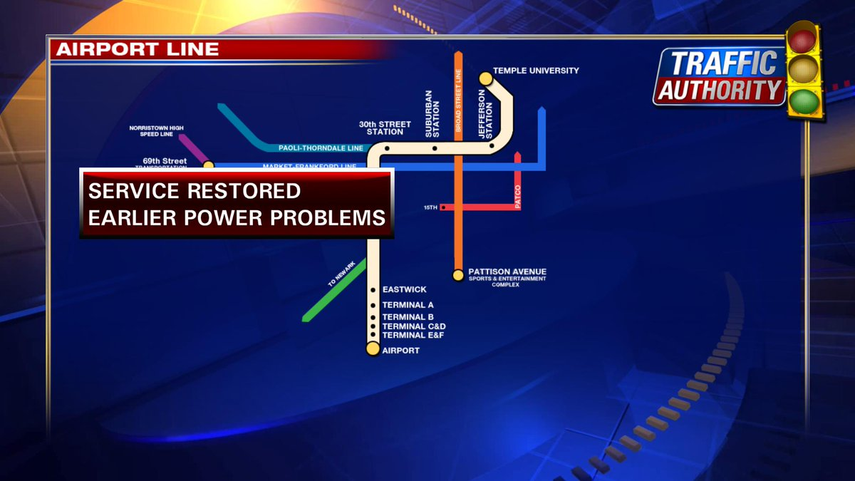 SEPTA AIRPORT LINE BACK ON TRACK WITH DELAYS