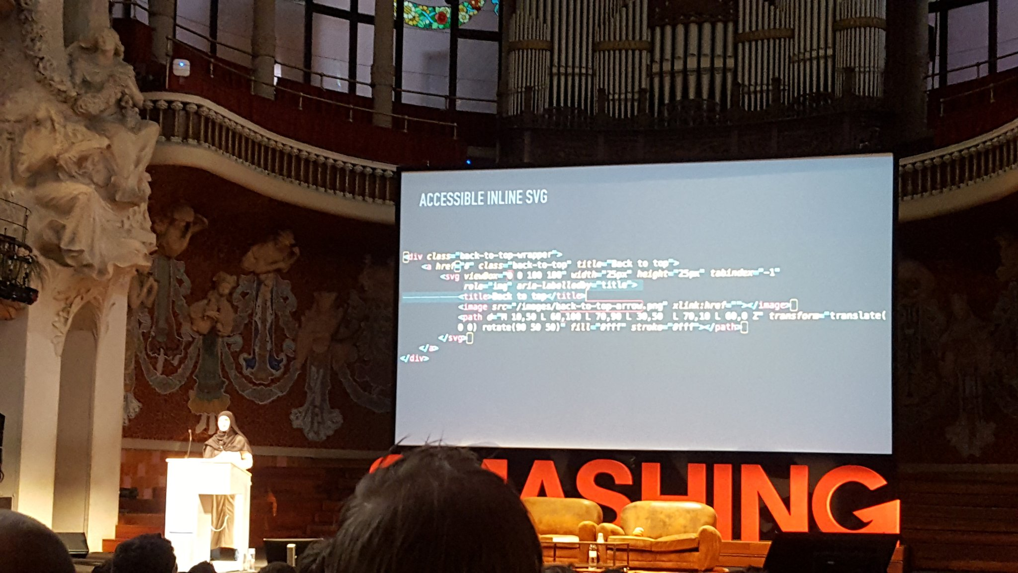 Very inspiring talk on accessibility improvements for the new Smashingmag site. Brillant @SaraSoueidan #smashingconf https://t.co/ydNgmS5T15